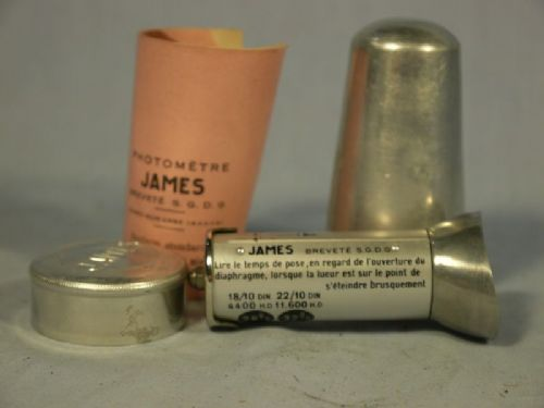 '    JAMES -VERY RARE SET-  ' James Exposure Photometer Cased + Inst -MINT-VERY RARE SET-  £79.99